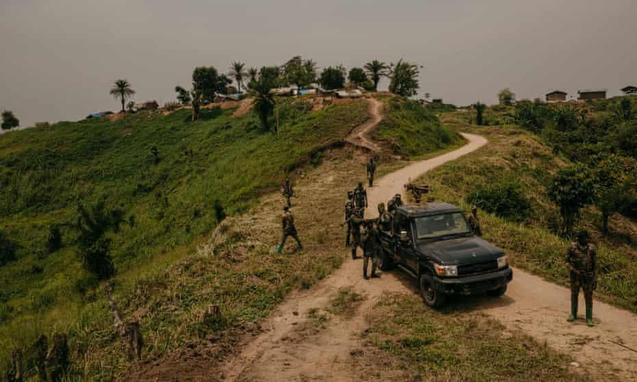 FARDC units at PK 25 on the Mbau-Kamango highway, Beni territory