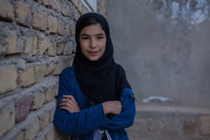 """Eidnaz, 12, Badghis province """"I want to be a lawyer and work in the government later, because I want to change the situation here in Badghis. This year, there's been so much fighting. Many people were killed – both the Taliban and government soldiers, but some of them were innocent. At night, I often hear the planes fly over my house. I know that they will not strike here, but I wonder where they are going and who will die. Many people have died here in Badghis because of the war."""""""