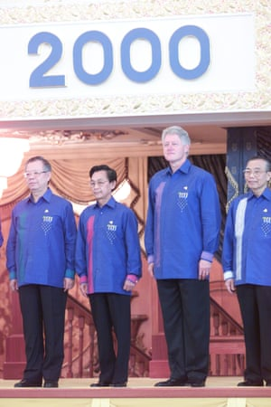 <strong>Brunei 2000:</strong> World leaders including US President Bill Clinton.