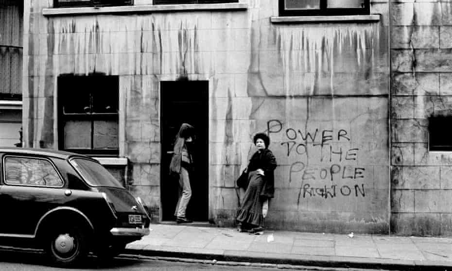 The 'hippy squats' of Notting Hill, west London, in 1975