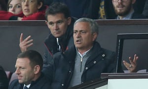 José Mourinho watches on from the stands.