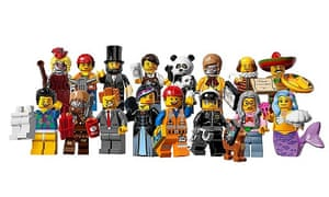 The Lego Movie cast, including Lord Business.