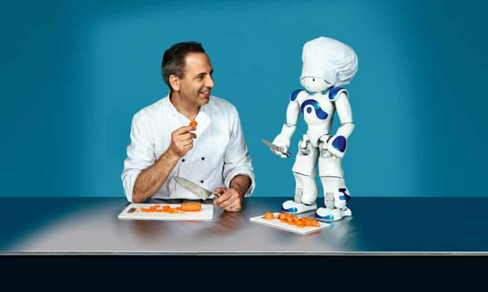 Chef Yotam Ottolenghi with a Nao robot