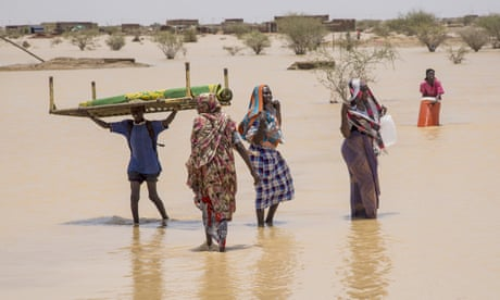 Floods caused by heavy seasonal rains destroyed homes in Khartoum state, Sudan in August 2020.