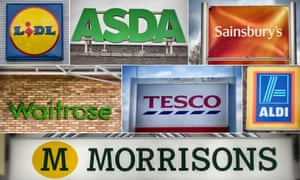 a selection of UK supermarket logos