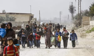 Syrians leave eastern Ghouta