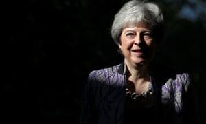 Theresa May arrives at church in Sonning, Berkshire
