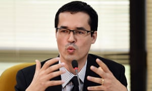 Deltan Dallagnol leads the Lava Jato corruption investigation from his prosecutor's office in unfashionable Curitiba.