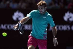 Stan Wawrinka on his backhand.