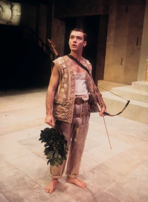 Jude Law in Ion, The Pit, London, 1994.