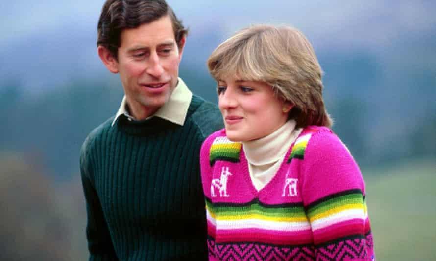 Charles and Diana at Balmoral before their honeymoon in May 1981.