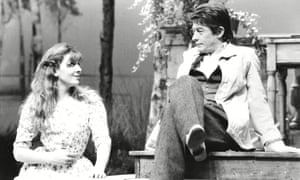 John Hurt as Trigorin with Natasha Richardson as Nina in The Seagull at the Lyric, Hammersmith, in 1985.