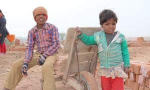 Children at brick factory Delhi