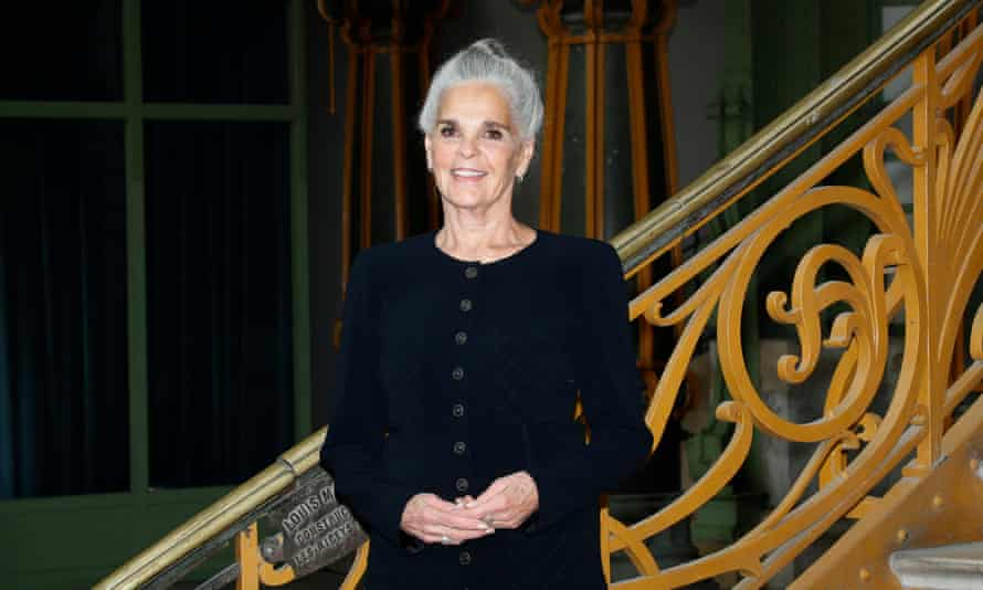 Ali MacGraw at the Grand Palais for the show.