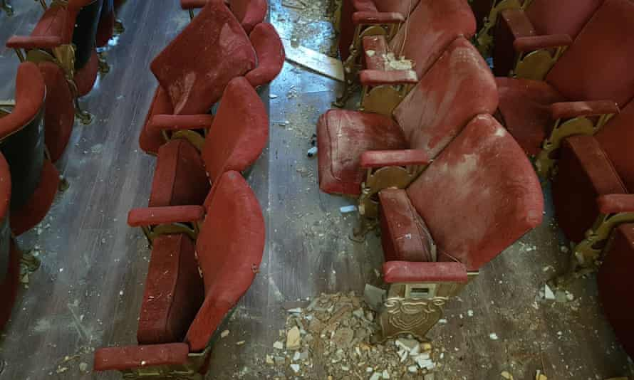 Blast damage … Theatre Gemmayze in Beirut, one of many stages the Theatre Relief Group hopes to help.