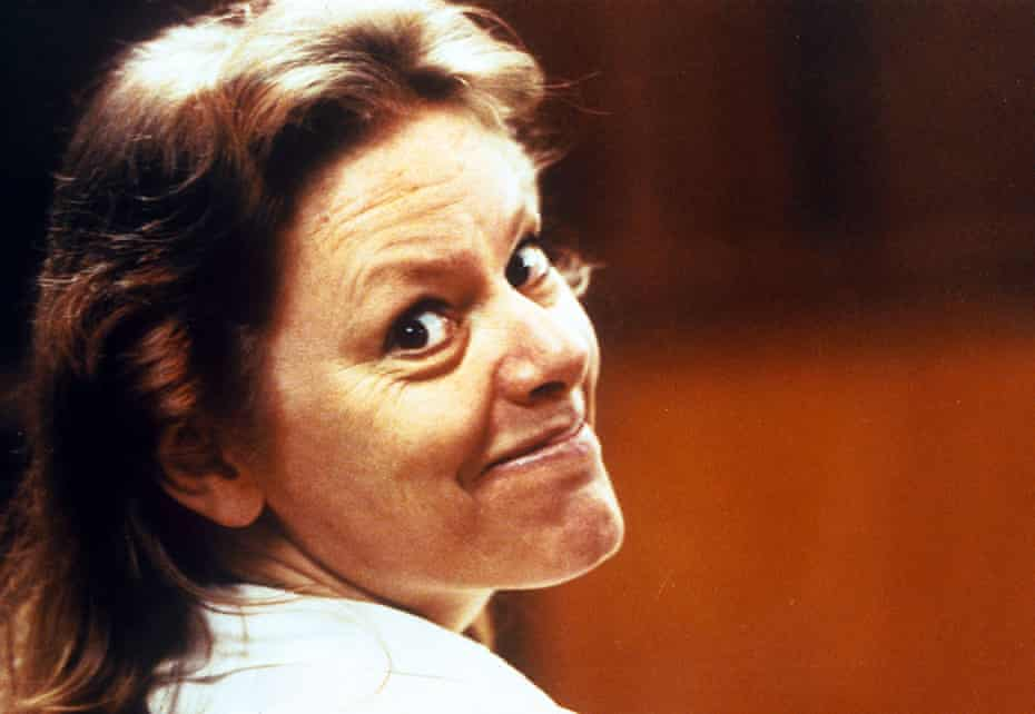 Aileen Wuornos at her trial in Florida, 1992.