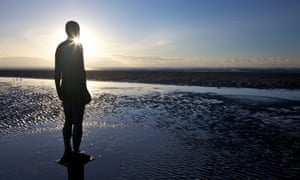 Antony Gormley's Another Place, Crosby Beach, November, Merseyside.