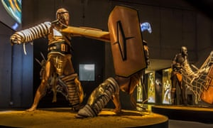 Diorama of gladiators in the Gallo Roman Museum in Tongeren.