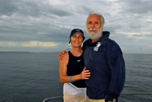 John and Linda Rumney on the Great Barrier Reef