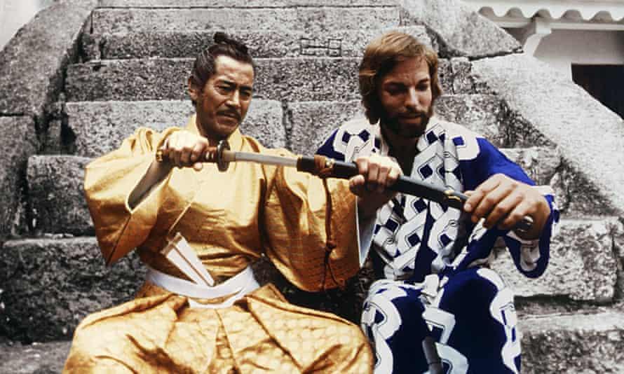 Toshiro Mifuner and Richard Chamberlain in the 1980 TV adaptation of James Clavell's Shogun.