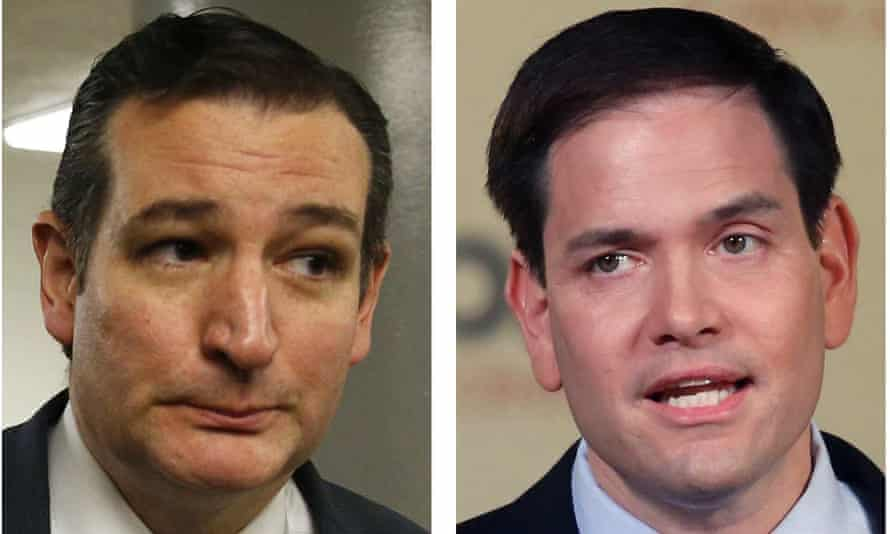Republican presidential candidates Ted Cruz and Marco Rubio