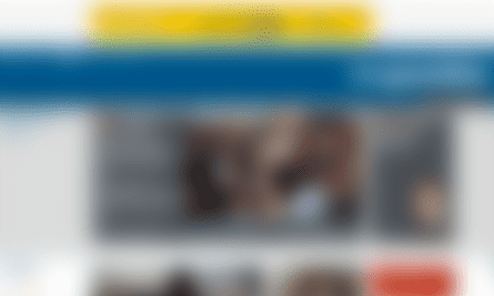 The Guardian homepage with a significant blur filter applied, so that it becomes unreadable