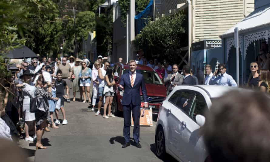 A house auction in the Sydney suburb of Paddington, Australia