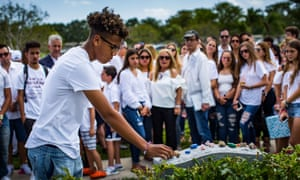 On what would have been her 15th birthday, family and friends gather to remember the Parkland shooting victim Alyssa Alhadeff on 1 May.