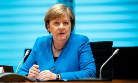 Angela Merkel during the interview