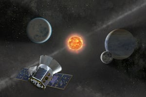 Illustration of Tess hunting for new planets