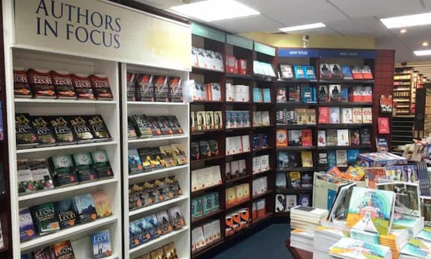 Inside Heffers bookstore in Cambridge, UK