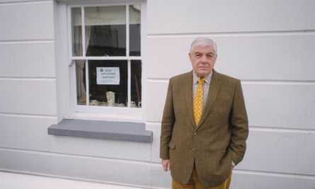 Andrew Eastman outside his cottage in Appledore.