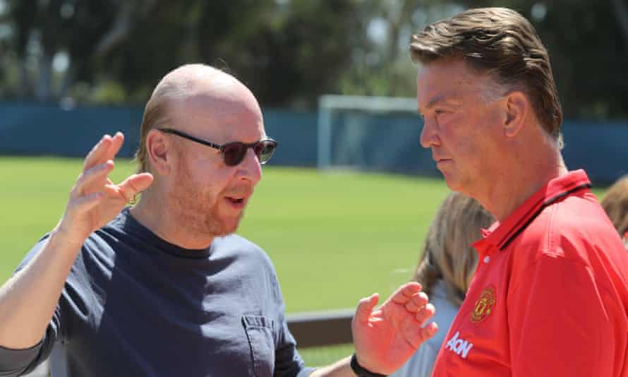 Van Gaal with Avie Glazer during the 2015 pre-season tour of the United States.
