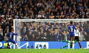 Ross Barkley of Chelsea misses a penalty.