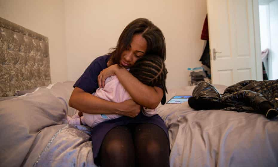 Krystalrose Shirley, a private renter who managed to get out of a mould-ridden flat she shared with her three-year-old daughter.