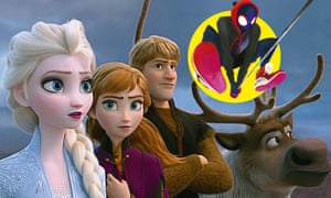 Frame academy... Frozen II; Spider-Man: Into the Spiderverse