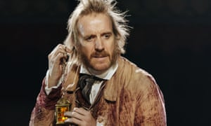 Rhys Ifans as Scrooge in A Christmas Carol at the Old Vic.
