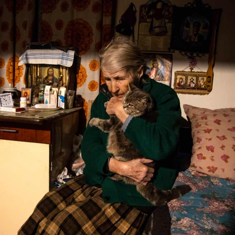 Lidiya Bonarenko, 82, in Maryanka, Donetsk region
