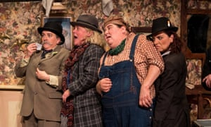 Jo Donnelly, Abigail McGibbon, Cheryl Fergison and Maria Connolly in The Ladykillers at the Lyric, Belfast.