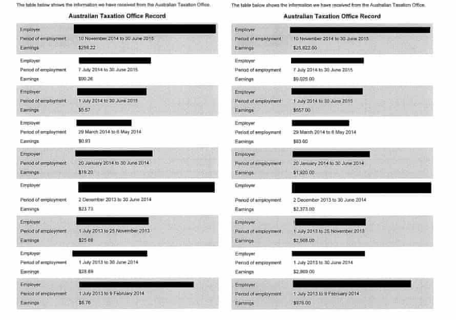 Centrelink sent these two letters to the same woman within a week of each other – the first showing glaring errors.