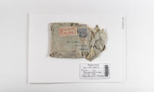 An envelope and bandage from Victoria Barracks in 1924.