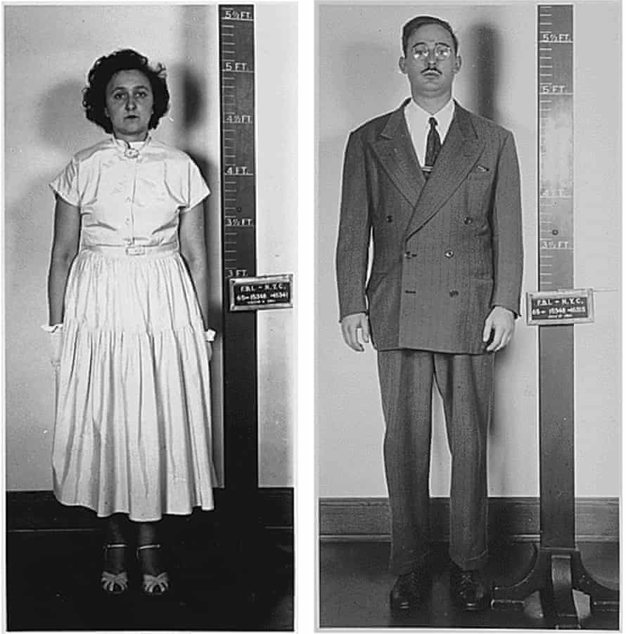 Ethel and Julius Rosenberg after their arrest in New York for espionage in 1950.