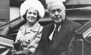 Mary and Harold Wilson in a carriage on their way to the Guildhall, London, in 1975. Harold was prime minister at the time, and about to receive the freedom of the city.