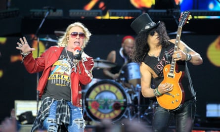 Returning heroes … Axl Rose, left, and Slash of Guns N' Roses.