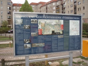 Now, an apartment block and carpark stands on the site which is marked only by a simple interpretation board describing the significance of the location. (Credits – Bundesarchiv, unknown; Colin Philpott)