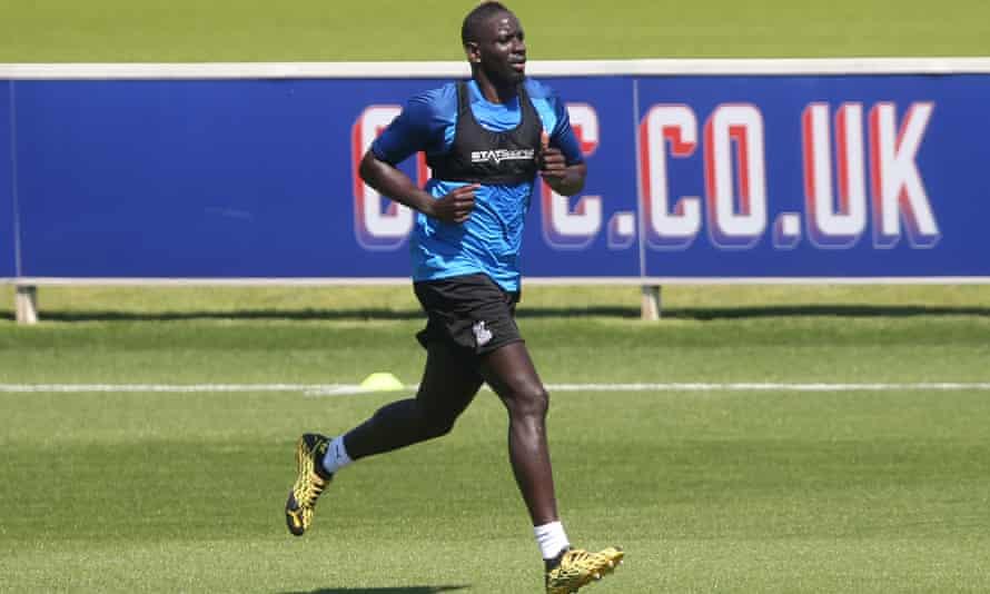 Mamadou Sakho during a Crystal Palace training session.