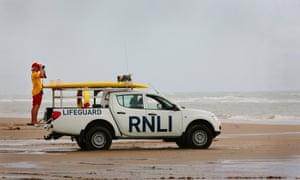 RNLI lifeguard at Camber Sands