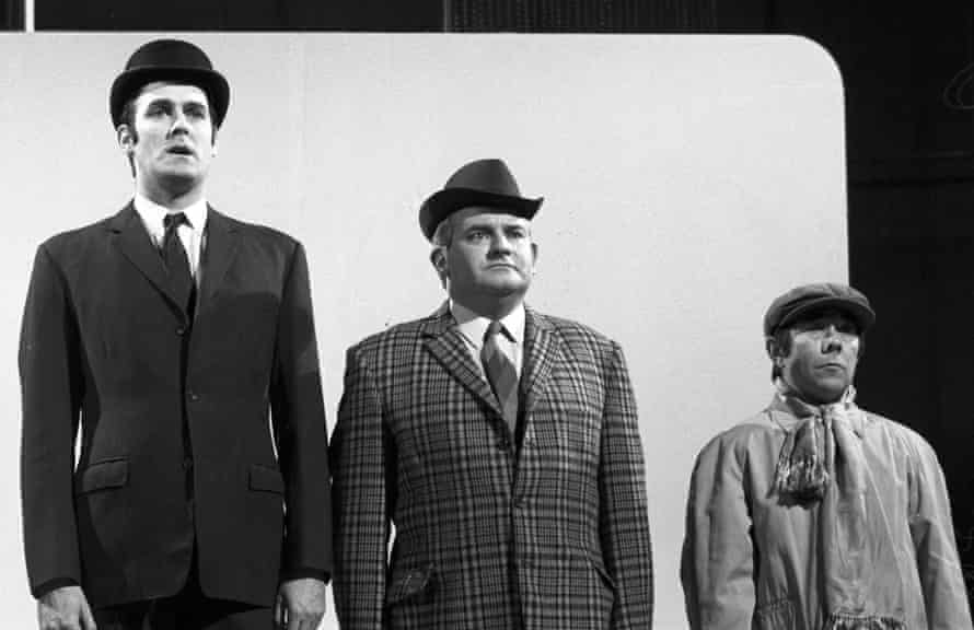 'I look down on him' ... John Cleese, Ronnie Barker and Ronnie Corbett in the Class sketch on The Frost Report in 1966.