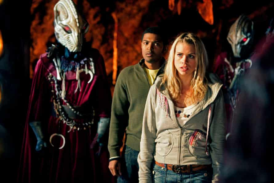 Space Clarke and Billie Piper encounter the Sycorax in Doctor Who.