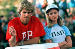 Jock stars: Ted McGinley and Julia Montgomery in Revenge of the Nerds.